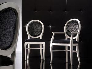 ADELAIDE silla 8030S, Silla tapizada con respaldo redondo, personalizable