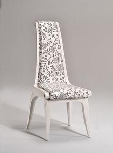 AFRODITE silla 8291S, Silla de estilo clásico, asiento y respaldo acolchado