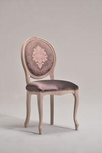 BRIANZOLA OVALE silla 8018S, Silla de madera, tela adaptable, para el café de edad