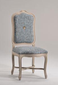 ELISABETH chair 8492S, Silla con respaldo alto tapizado, de estilo clásico