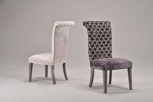 GRACE chair 8279S, Silla tapizada completamente, respaldo alto, de estilo clásico
