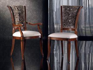 IRIS chair 8523S, Cena de la silla con asiento acolchado y respaldo acabado con tachuelas