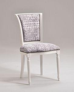 KELLY chair 8021S, Silla de estilo clásico sin brazos, personalizable