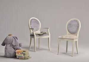 KORA chair 8304S, Silla de estilo clásico con asiento y respaldo tapizados