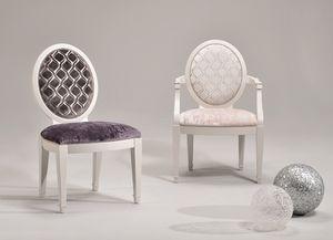 LUNA chair 8269S, Silla tapizada, revestimientos y colores personalizables
