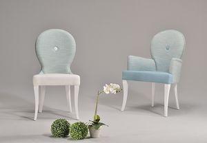 NEA chair 8309S, Silla de estilo clásico con respaldo curvo y acolchado