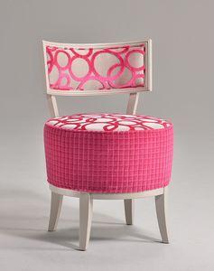 ROUND silla 8641S, Silla elegante, con asiento redondo tapizado, para el restaurante