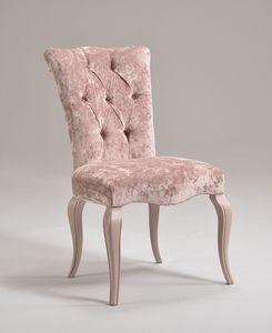 ROYAL chair 8494S, Silla clásica en madera de haya, acolchado, personalizable