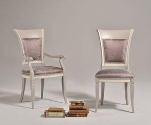 SIRIA chair 8525S, Silla de estilo antiguo con respaldo de madera