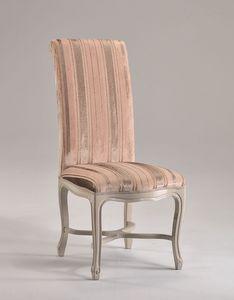 SISSI chair 8491S, Sillón de alto respaldo, tapizado con estructura de madera