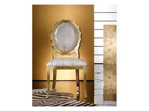SUN chair 8282S, Silla de madera acolchada, con respaldo en forma de originales