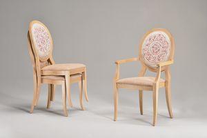 TATI chair 8084S, Silla apilable con asiento y respaldo acolchado