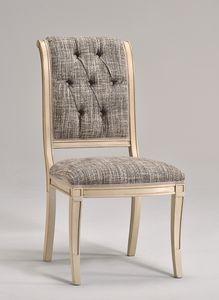 WENDY silla 8286S, Silla de comedor en madera de haya, varias telas