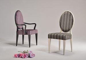 YVONNE sillón 8615A, Silla de estilo neoclásico en varios colores, para la sala de espera