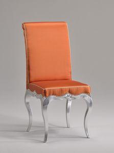 ZEN silla 8677S, Vieja silla de comedor de estilo, con asiento acolchado y respaldo