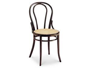 01/CR, Silla de madera con asiento de caña y el respaldo ovalado