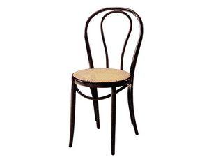 01/PAT, Silla de madera con asiento de caña, para bares y pubs