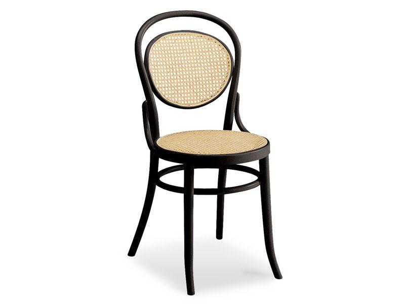 050, Silla de madera con asiento y respaldo de la caña