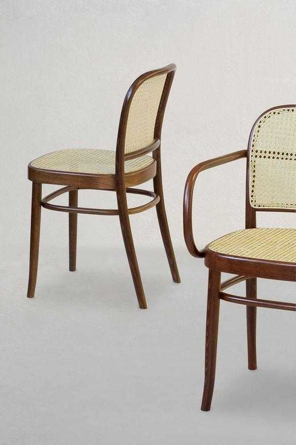 06/CB, Silla de madera con asiento y respaldo de caña, para bares