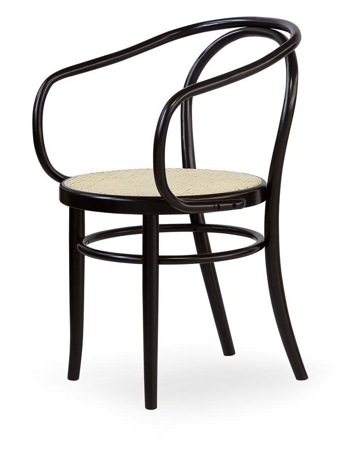 08, Sillón de madera con asiento de caña