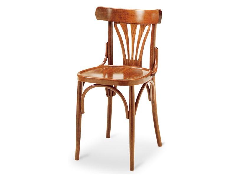 092, Silla de madera sin brazos, de estilo antiguo