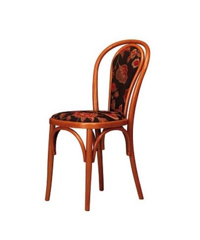 105, Silla de madera de haya curvada, tapizada, para la barra y el hogar