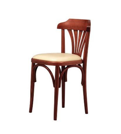 131, Retro silla en madera de haya curvada, de bares y pizzerías
