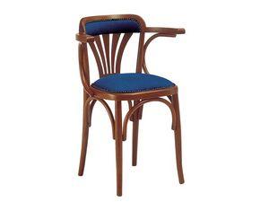 620, Silla de madera con asiento acolchado, para bares y pubs