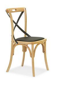 Ciao Antra M, Silla de madera curvada curvado, asiento acolchado