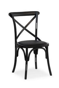 Ciao H, Silla de madera maciza, asiento cubierto de tela