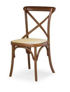 Ciao W, Silla en madera de haya, asiento de paja de Viena
