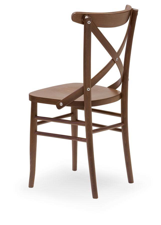 Croce 3, Silla en madera de haya, para los restaurantes