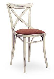 Croce Imb, Silla de madera maciza, asiento tapizado