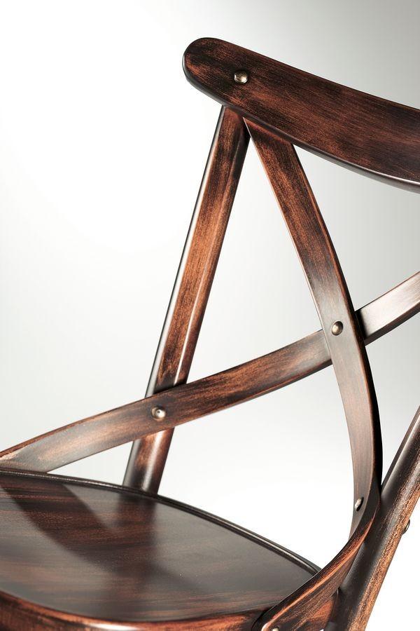Croce, Sillas de madera sin brazos, para restaurantes y de barras
