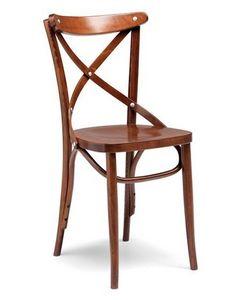 Croce sedile sezionato, Silla de bar y restaurante, estructura de madera curvada