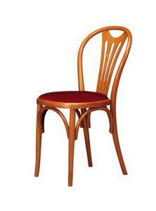 V04, Silla en madera de haya curvada, asiento en diversos materiales
