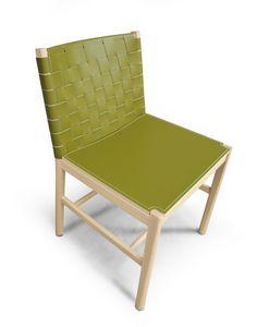 ART. 0021-IMB JULIE, Silla de diseño minimalista con asiento acolchado
