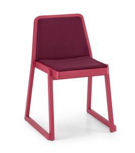 ART. 0041-IMB ROXANNE, Silla acolchada cómodo, silla apilable