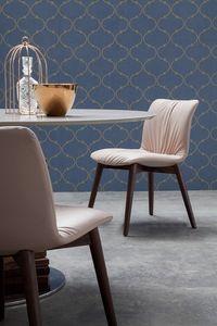 FELIX, Cuero o cuero ecológico silla tapizada