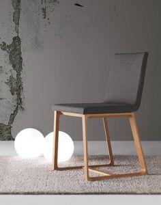 Halley, Comer acolchada silla de madera, cubierta desmontable