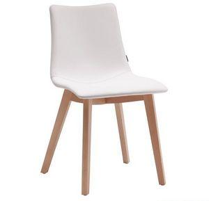 Natural Zebra Pop, Silla moderna de madera con asiento acolchado