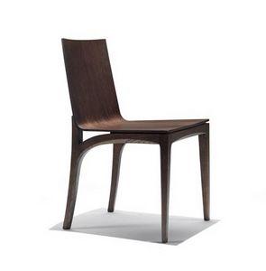 Mak, Silla de madera con asiento y respaldo curvo