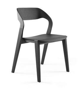 Mixis, Diseño silla de madera, apilable, minimalista, de Hotel