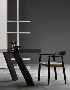 Odyssee, Silla moderna con asiento de paja adecuada para bares y ambientes residenciales