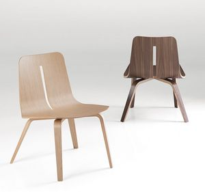 Platone, Silla de diseño de madera para los comedores modernos
