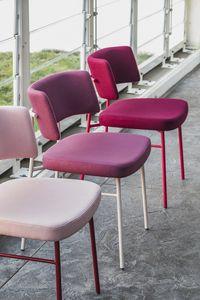 ART. 0161-MET-IM MARLEN, Silla con estructura de metal, asiento tapizado.