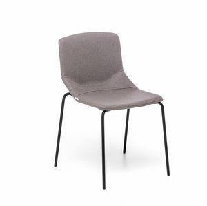 Formula Slim 4L, Silla con asiento tapizado, para uso contractual y residencial