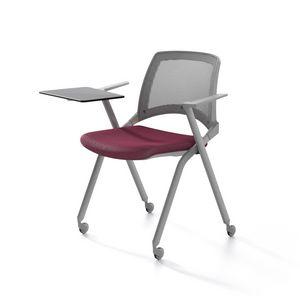 Oplà mesh, Silla de metal, asiento tapizado, respaldo de malla