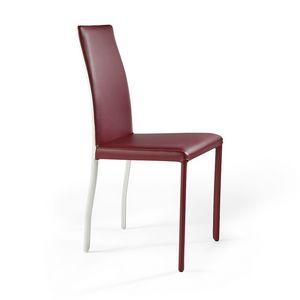 Moa bicolor, Innovadora silla de cuero, con acabado bicolor