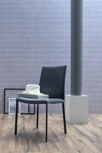 NAVARRA, Silla tapizada, disponible en cuero o imitación de cuero